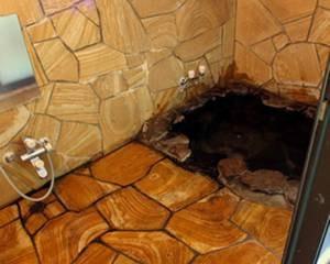 【家族風呂】敷地内で自然に湧き出している天然温泉