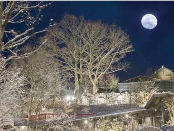 【敷地内/例】月洸樹は、黒川温泉で最も美しい月を望む宿を…との想いで誕生しました