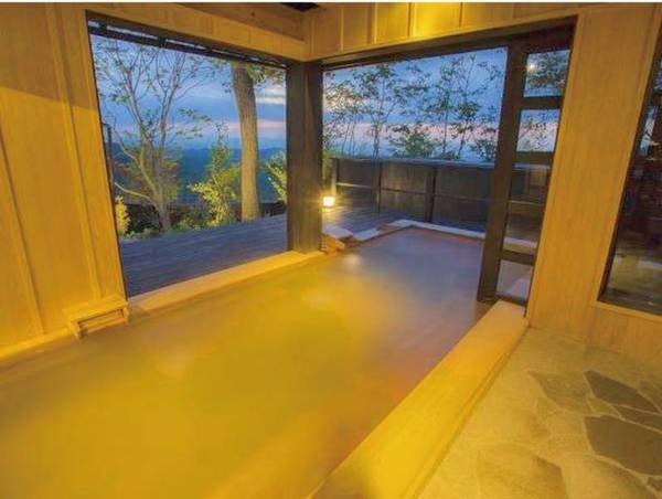 【特別室 佳月 kagetu/例】広々とした客室露天風呂で良泉を独り占め