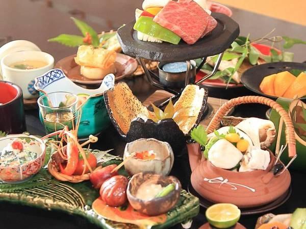 熊本の郷土料理を盛り込んだ四季替わり会席/例