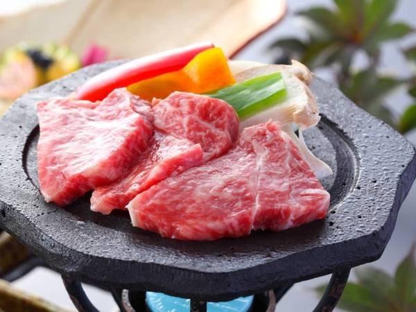 熊本ブランド牛の陶板焼き/例