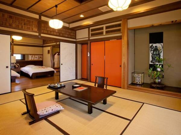 【貴賓室ー草庵ー/一例】貴賓室「草庵」は、明治時代に造られた茶室を移築し造りました