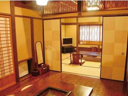 【露天・内湯付き離れ ~亀~/例】和室10畳と囲炉裏の間6畳の2間続きのお部屋