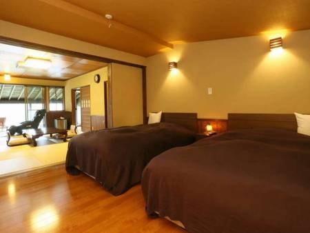 【離れ平屋 和洋室タイプ(半露天風呂付)/例】10畳の和室+ベッドルーム
