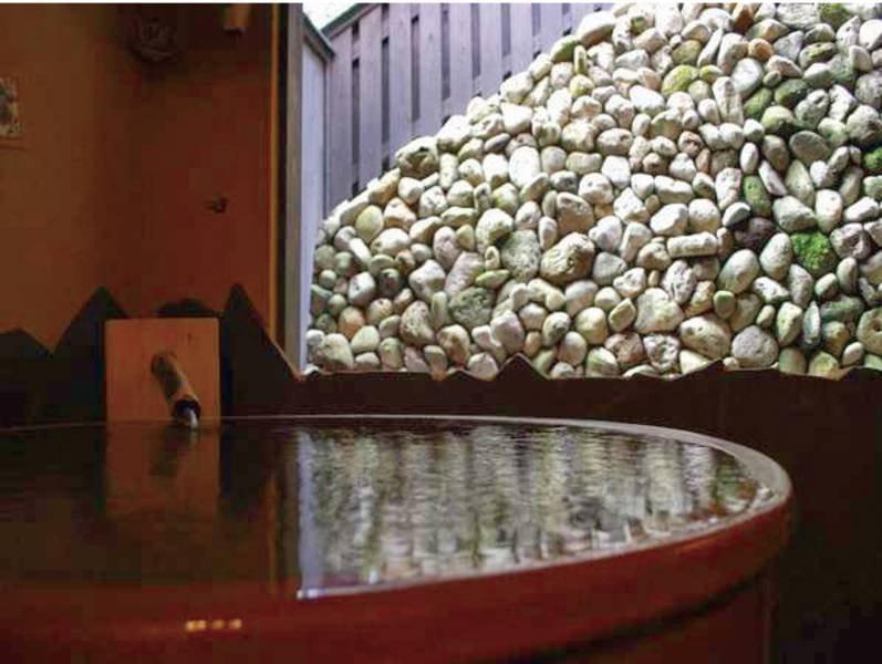 【陶の湯】信楽焼の陶器のお風呂がお出迎え