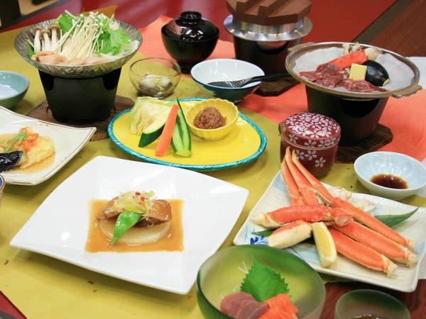 【夕食/例】ずわい蟹付き!竜神会席