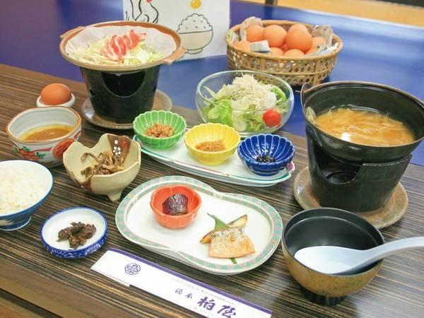 【朝食/例】宿自慢の朝食は「おかわりしたくなる」と好評!