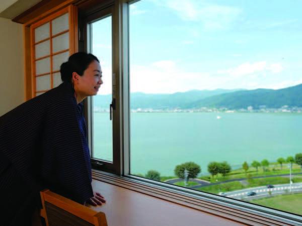 【客室眺望/例】湖を望み爽やか