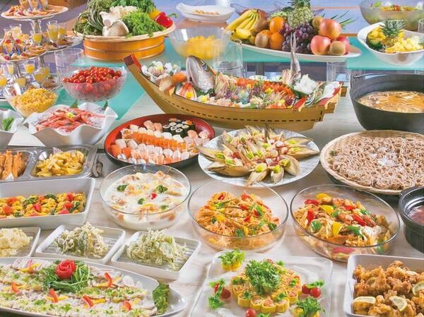 【夕食バイキング/例】彩にも気を配って・・・。緑がおいしい長野県をお召し上がりください