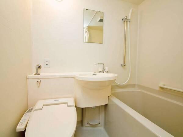 【洋室ツイン/例】全室暖房便座&シャワートイレのユニットバス。ユニットバスサイズは120×160cm