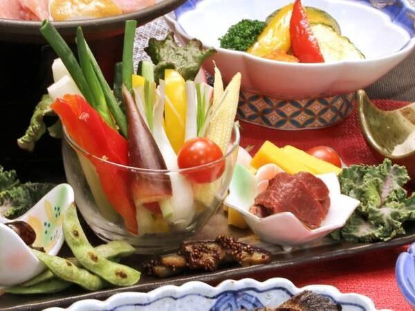 *【夕食】スタンダードコース/高原野菜盛り合わせ(一例)
