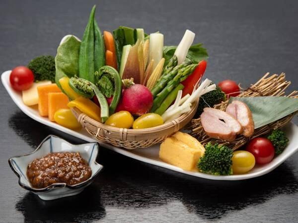 *【夕食一例】宿こだわりの野菜の盛り合わせ