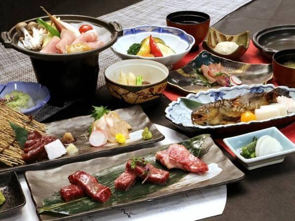 *【夕食】アップグレードコース/お料理全体(一例)