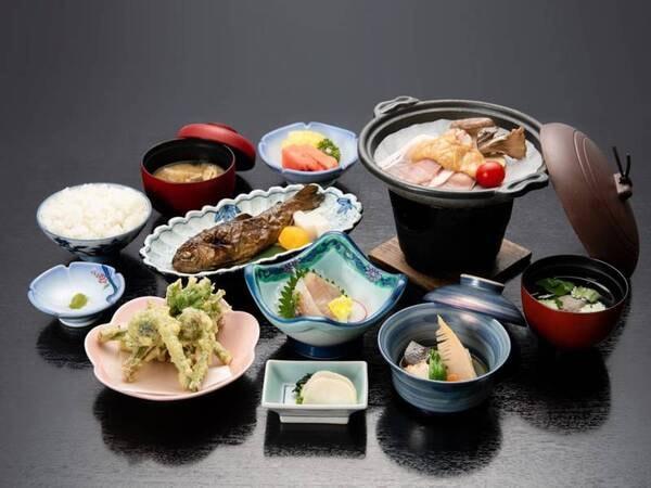 *【夕食】リーズナブルコース/お料理全体(一例)