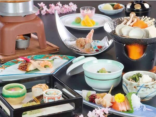 【[響]《女性&シニアに人気》季節会席/例】信州長野の旬を感じる四季折々の味わい、新鮮な食材を品数控えめでご提供。