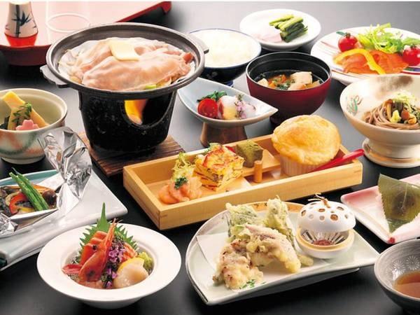 【和会席/例】 信州サーモン・国産豚肉しゃぶしゃぶ・お造・天ぷらなど料理長こだわりの信州の味覚が楽しめる