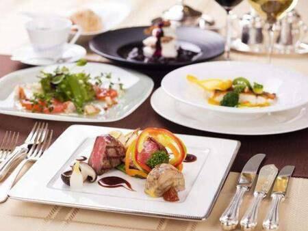 選べる3種のご夕食/信州の味覚を味わえる本格フレンチ「Re Lac(ル・ラック)」一例