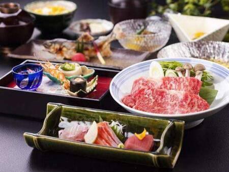 選べる3種のご夕食/信州の味覚を味わえる本格和会席「女神会席」一例