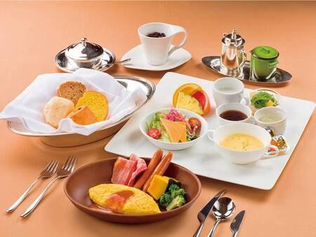 和洋選べる本格コース(朝食/洋食一例)