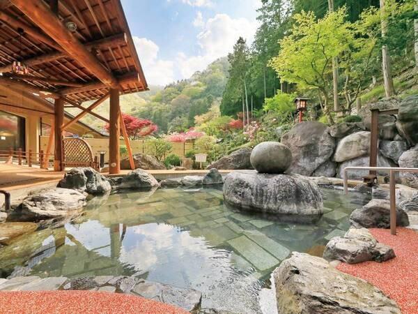 【湯元ホテル阿智川】庭園露天風呂が人気!大庭園露天風呂や洞窟風呂など館内湯巡り