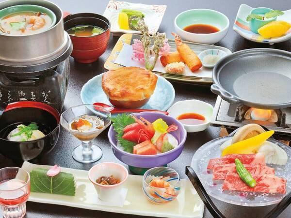 【お値打ち会席/例】夕食は旬味溢れる月替わりの会席料理