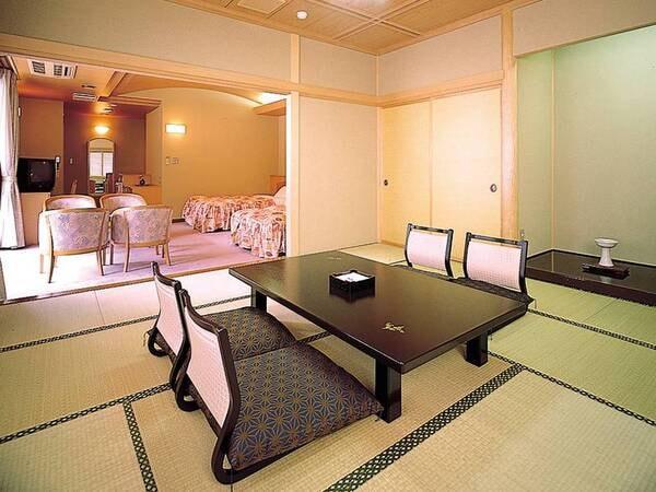 【祥泉館・和洋室/例】庭園側または川側の快適な和洋室へご案内