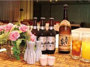 【飲み放題60分/例】生ビール・瓶ビール・日本酒・焼酎・サワーなど/※写真は一例