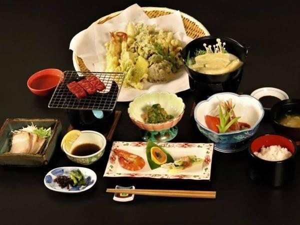 信州牛網焼き+天ぷらビュッフェ/一例