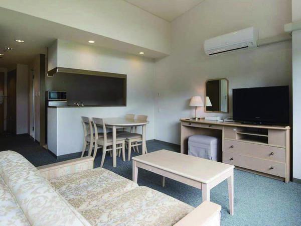 広々としたリビングスペース+身にキッチン付の55㎡ツイン洋室(喫煙)