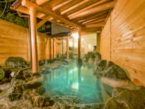 【露天風呂】pH11を超える世界でも稀少な強アルカリ温泉!お肌もすべすべになる「美人の湯」を堪能