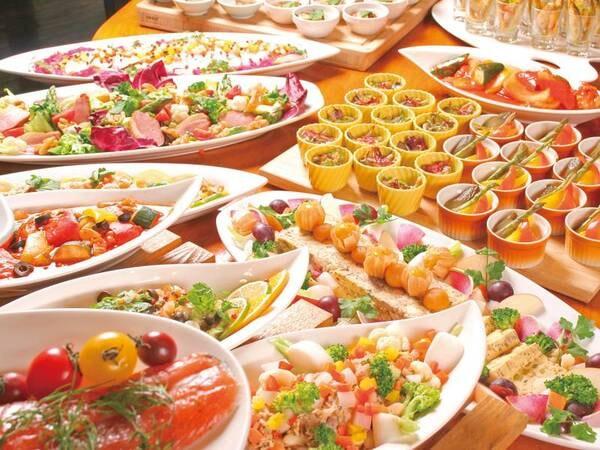 【夕食/例】サラダ・前菜などの冷菜もバイキング
