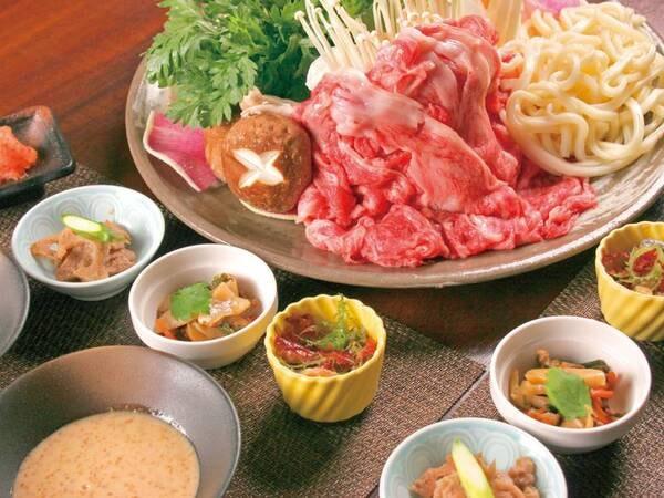 【特撰しゃぶしゃぶor特選すき焼き/例】野菜、〆うどん付き