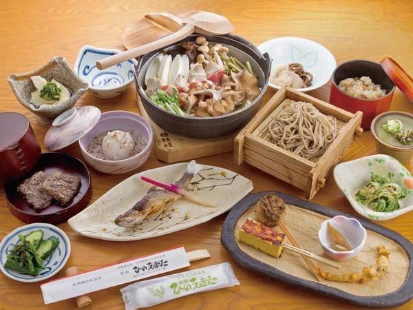 【山人料理満喫/例】地元の旬菜を堪能