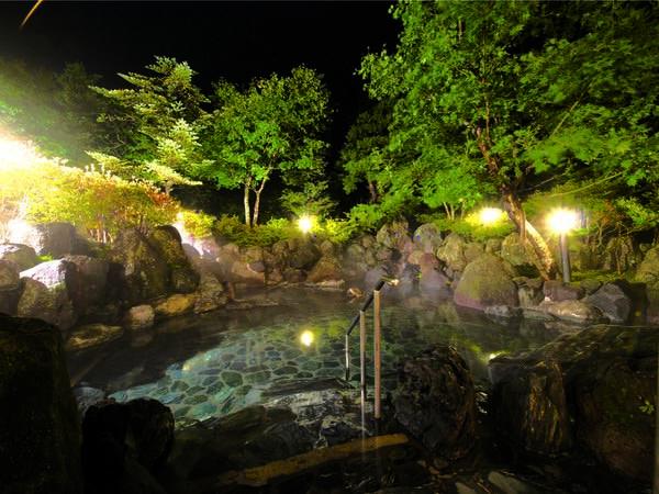 【露天風呂】夜にも表情を変えた自然を楽しめる