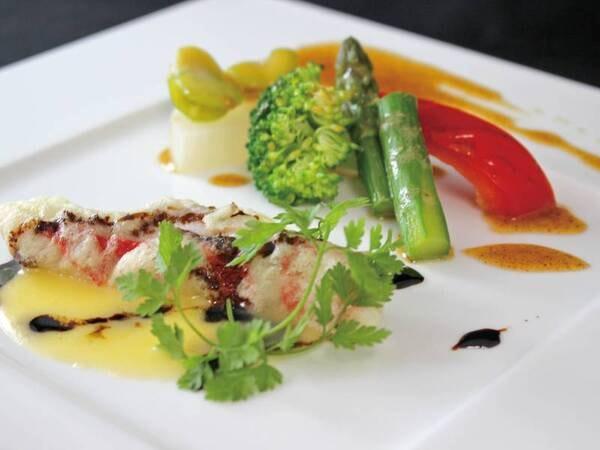 【バイキング+嬉しい1品/例】金目鯛のフリット バルサミコ風味のブールブランソース