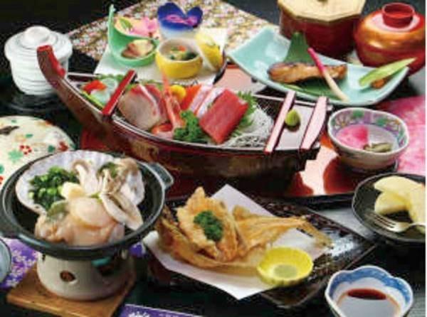 【夕食/例】新鮮な海鮮を市場で仕入れてご提供!