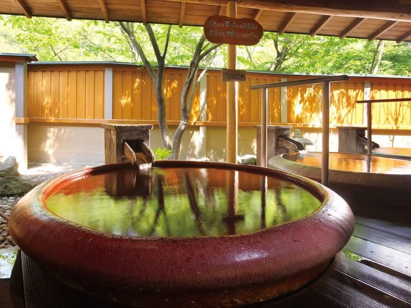 【庭園露天風呂/赤陶器の湯】華の湯全体でお風呂は30種類!