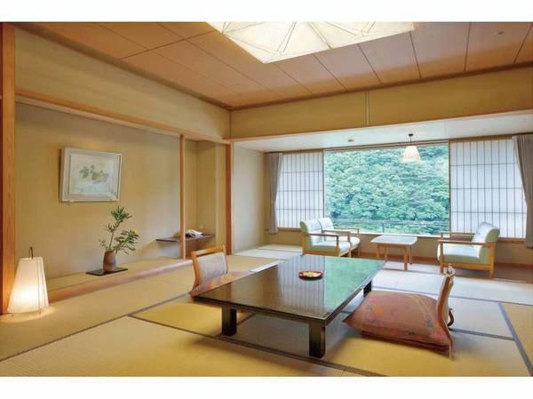 【華風館和室/例】全室12.5畳以上!さらに檜の内風呂付。ちょっぴり贅沢したい時にオススメ