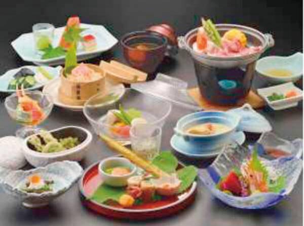 【梅コース/スタンダード例】お料理も温泉もお得に満喫♪季節に合わせた旬のお料理をご堪能ください。