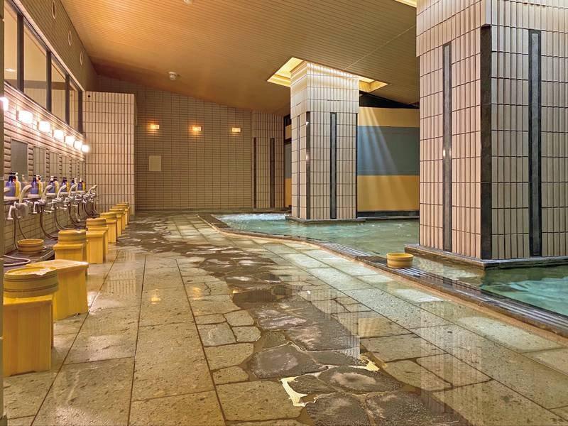 大浴場【月明かりの湯・花明かりの湯】清潔感のある大浴場