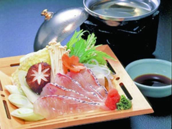 【選択料理/鯛しゃぶの例】牛ステーキか鯛しゃぶから選択できるメインが嬉しい