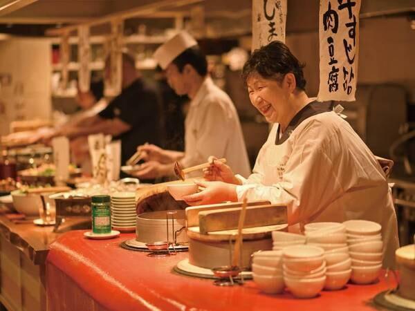 【お手前料理と6つのかまど料理付プラン/例】お手前料理のほか、6つのかまど料理が食べ放題!