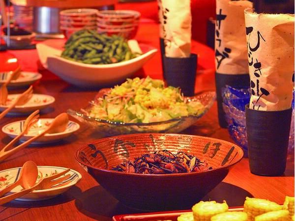 【夕食/例】7種のおばんざい食べ放題!