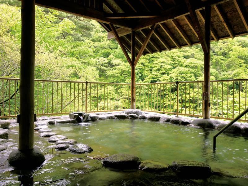 【空中露天風呂】眼下に渓谷を見下ろす※有料