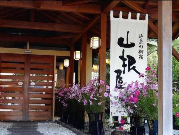 【玄関】自然に囲まれた素朴な宿