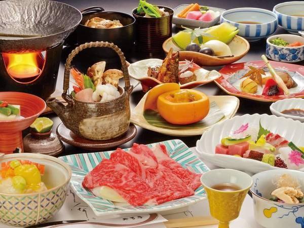【和牛しゃぶしゃぶ+特別会席/例】美味しいお料理の為に選び抜いた食材を使用