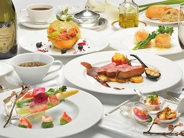 [クラシックフレンチコース/例】色鮮やかなフレンチコースを組数限定のレストランにて