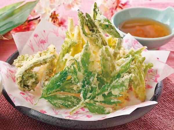 山菜の天ぷら(例/5月まで)