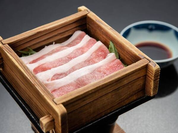 *【夕食一例】豚肉のせいろ蒸し。
