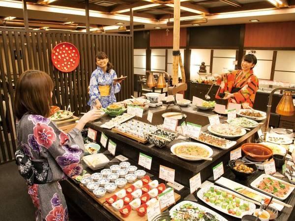 【夕食ブッフェ/例】和食職人が手掛ける、全60種の本格和食ブッフェ